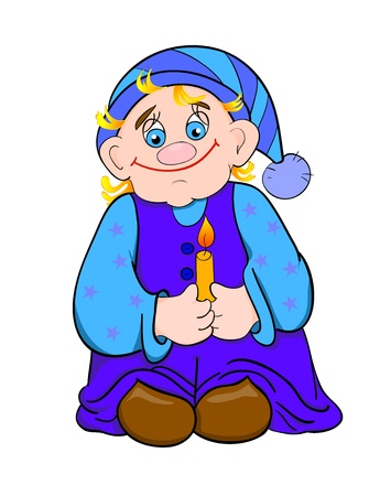 dwarf cartoon, with isolation on a white background Vector
