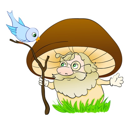 mushroom cartoon , with isolation on a white background Vector