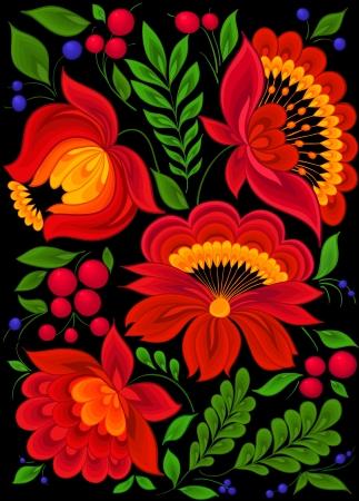 painting floral background, design pattern Illustration