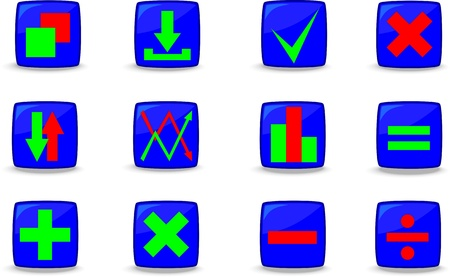 Web icons, buttons , Vector