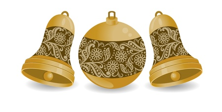Christmas balls, with isolation on a white background Vector
