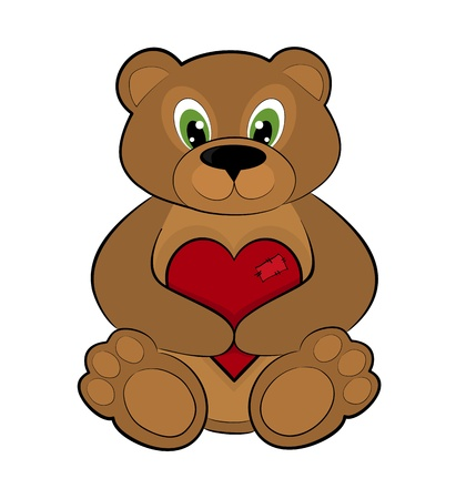 valentine s day teddy bear: Teddy bear holding a red heart
