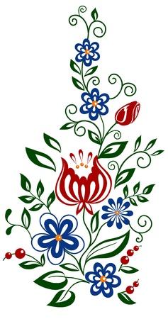 Belle floral. des fleurs et des feuilles d'éléments de conception Banque d'images - 17833407