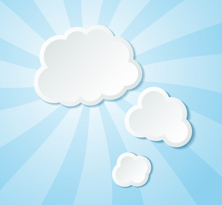 Paper clouds background. Many similarities to the authors profile Vector