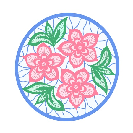 flowers and leaves element. imitation guipure embroidery. Many similarities to the authors profile. Vector