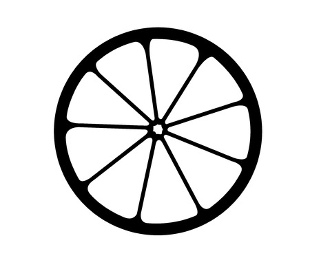Vector monochrome illustration of citrus  Stock Vector - 22956800