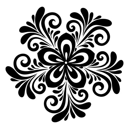 beautiful floral pattern, a design element in the old style.  Many similarities to the authors profile