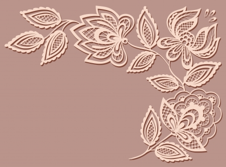 beautiful floral pattern, a design element in the old style.  Many similarities to the authors profile Vector