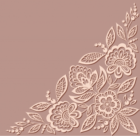 beautiful floral pattern, a design element in the old style.  Many similarities to the author's profile  イラスト・ベクター素材