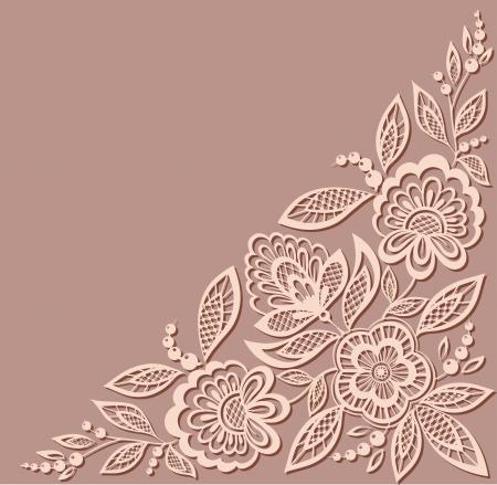 mooi bloemmotief, een design element in de oude stijl. Veel overeenkomsten met het profiel van de auteur