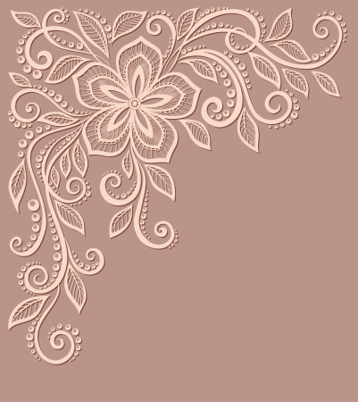 beautiful floral pattern, a design element in the old style.  Many similarities to the author's profile Illustration