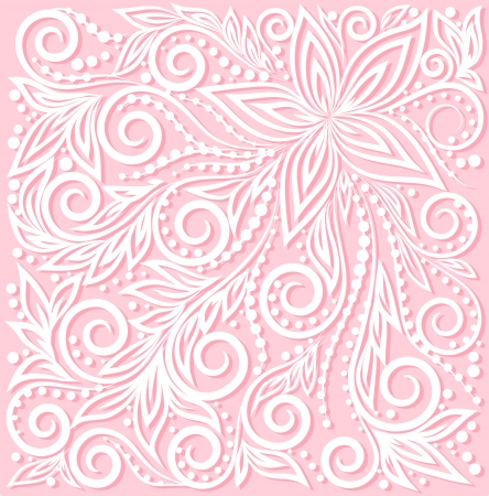 beautiful floral pattern, a design element in the wedding style.   Vector