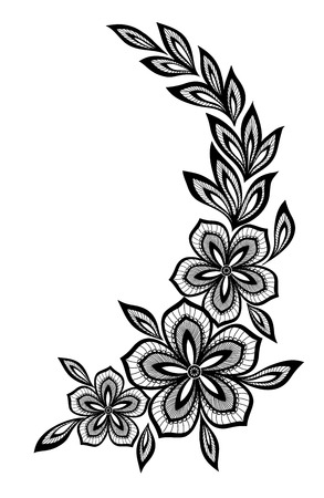 indium: beautiful floral pattern, a design element in the old style.
