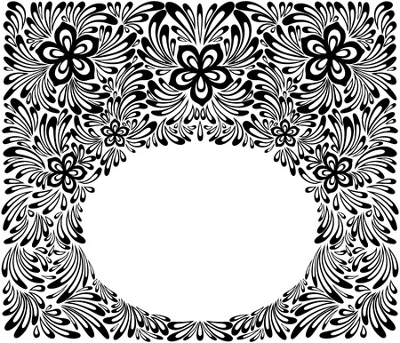 indium: beautiful floral pattern, a design element in the old style.  Many similarities to the authors profile