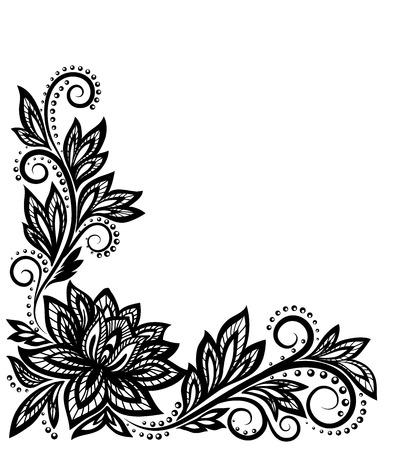 El patrón de flores, un elemento de diseño en el viejo estilo Foto de archivo - 25041943