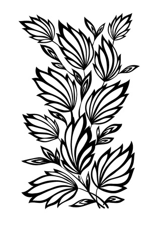 beautiful floral pattern, a design element in the old style  Vector