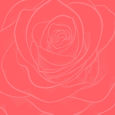 beautiful background with red rose close-up . Hand-drawn contour lines and strokes. Perfect for background greeting cards and invitations to the day of the wedding, birthday and Valentines Day Vector