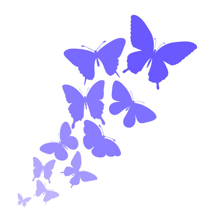 butterflies flying: background with a border of butterflies flying. Perfect for background greeting cards and invitations to the day of the wedding, birthday, mothers Day
