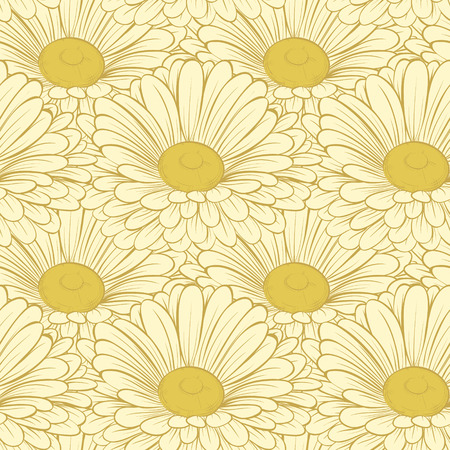 Beautiful seamless background with flowers  Hand-drawn contour lines and strokes.   Hand-drawn contour lines and strokes.  Perfect for background greeting cards Vector