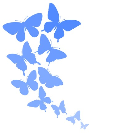 butterfly border: background with a border of butterflies flying  Perfect for background greeting cards and invitations of the wedding, birthday, Valentine