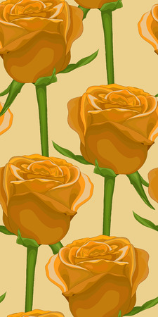 rose stem: vertical seamless background with yellow roses