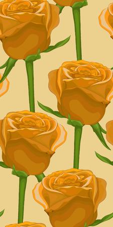 gele rozen: verticale naadloze achtergrond met gele rozen