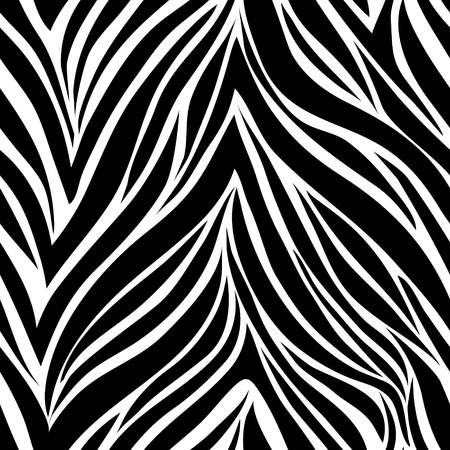 Seamless texture of zebra skin Vector
