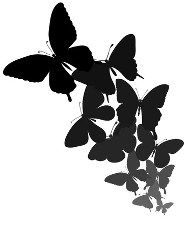 background with a border of butterflies flying  Perfect for background greeting cards and invitations of the wedding, birthday, Valentine Vector