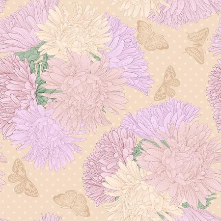 ramo de flores: Fondo transparente hermosa con las flores del ramo. Curvas de nivel dibujadas a mano y apoplej�as. Vectores
