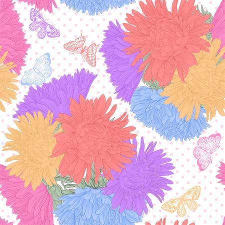 ramo de flores: Hermoso fondo transparente con flores ramo dibujados a mano las curvas de nivel y accidentes cerebrovasculares Vectores
