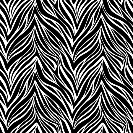 beautiful Seamless texture of zebra skin Vector
