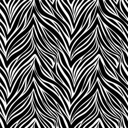 beautiful Seamless texture of zebra skin Vectores
