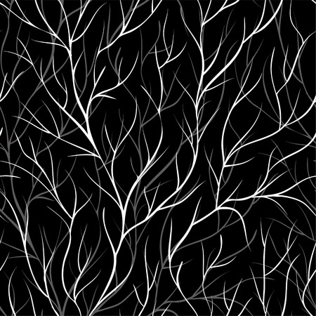black forest: beautiful monochrome black and white seamless background with tree branches. Perfect background greeting cards and invitations to the wedding, birthday, mothers day and other seasonal holidays
