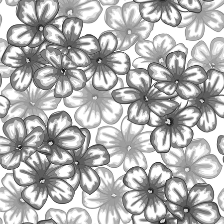 vintage patterns: Beautiful monochrome black and white seamless background with flowers daisy. for greeting cards and invitations of wedding, birthday, Valentines Day, mothers day and other seasonal holiday