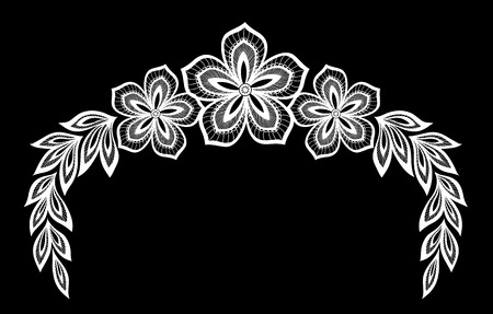 doodling: beautiful monochrome black and white flowers and leaves isolated. Floral design for greeting card and invitation of wedding, birthday, Valentines Day, mothers day and seasonal holiday Illustration