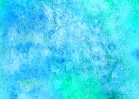turquesa: Fondo de acuarela azul. pintura de la mano abstracta mancha cuadrada telón de fondo