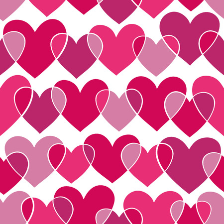 beautiful seamless pattern with pink doodling sketch heart. design for holiday greeting card and invitation of the wedding, Valentines day and Happy love day Illustration