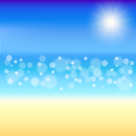 sea water: Beautiful Summer background. beach with shiny sparkling sea water
