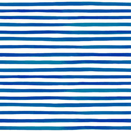 navy blue background: Beautiful seamless pattern with blue watercolor stripes. hand painted brush strokes, striped background. Vector illustration