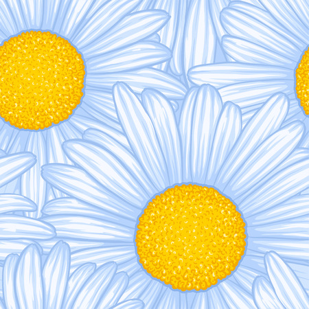 Beautiful seamless pattern with flowers daisy. design forgreeting cards and invitations of wedding, birthday, Valentines Day, mothers day and other seasonal holiday. Illustration