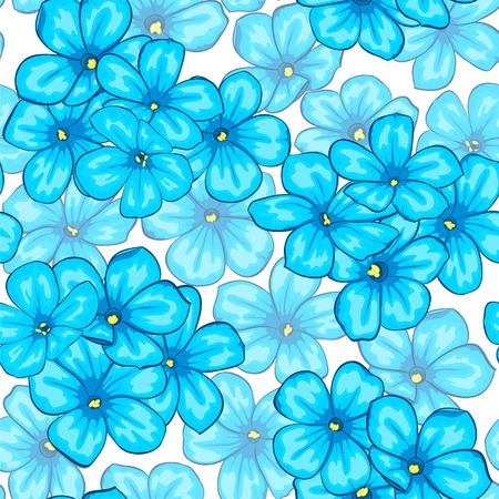 Beautiful seamless pattern with blue flowers daisy. Design for greeting cards and invitations of wedding, birthday, Valentines Day, mothers day and other seasonal holiday 向量圖像