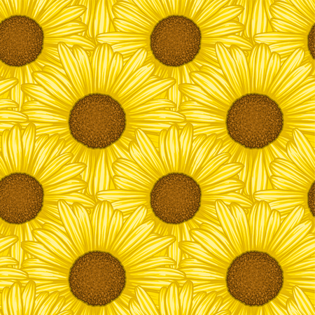 Beautiful seamless pattern with flowers daisy. design forgreeting cards and invitations of wedding, birthday, Valentines Day, mothers day and other seasonal holiday