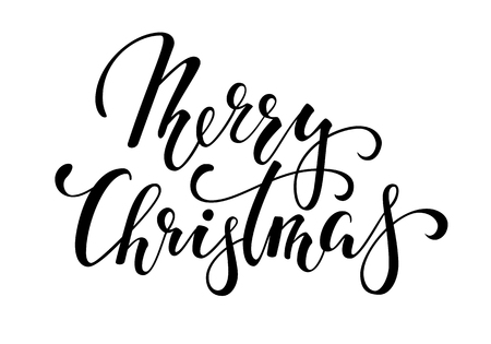 Merry Christmas. Hand drawn creative calligraphy and brush pen lettering. design for holiday greeting cards and invitations of the Merry Christmas and Happy New Year, banner, logo, seasonal holiday. Illustration