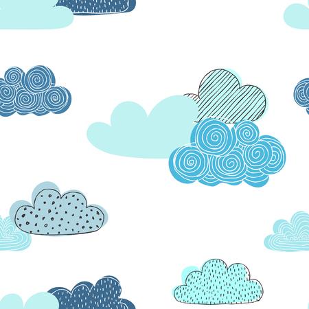 Beautiful doodle clouds.