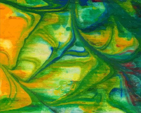 Abstract bright green, yellow, watercolor background.