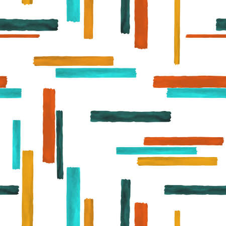 Seamless pattern. Colorful geometric background. Vintage background fabric. Modern poster design. Abstract modern line pattern. Vector design template. Graphic abstract backdrop.