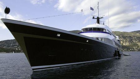 vacance: Il motor yacht di 70 metro Uno 1973 Lrssen costruire yacht precedentemente Carinzia VI Archivio Fotografico