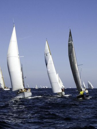 ketch: Modern and traditional sailing yachts heading for home