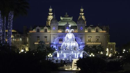 monte: Christmas illumination of the Casino square in Monte Carlo Monaco