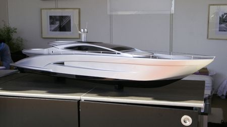 maquette: scale model for design of a fast motor yacht